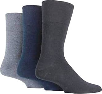 SockShop 6 Pairs Mens Sockshop Diabetic Gentle Grip Socks 6-11 UK 39-45 EUR see variations (Black/Navy/Grey)