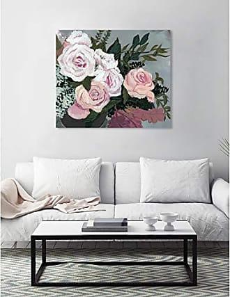 The Oliver Gal Artist Co. The Oliver Gal Artist Co. Floral Wall Art Canvas Prints Garden of Roses Home Décor, 36 x 30, White, Orange