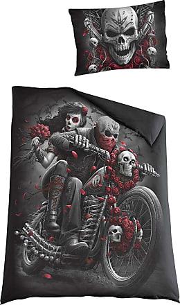 Spiral Skull N Roses - Unisex-Sängkläder - flerfärgad