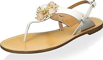 Aerin Womens Vaccaro Sandal, Cream, 6 M US