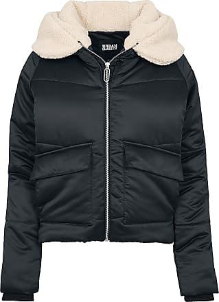 Urban Classics Ladies Sherpa Hooded Jacket - Winterjacke - schwarz beige bb60a38782