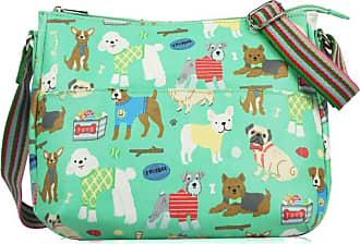 Your Dezire Womens Ladies Oilcloth Dogs Cross Body Messenger Bag Women Shoulder Tote Satchel Handbag Green