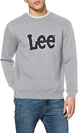Lee Logo Sweatshirt Felpa, Grigio (Grey Mele Ot37), Small