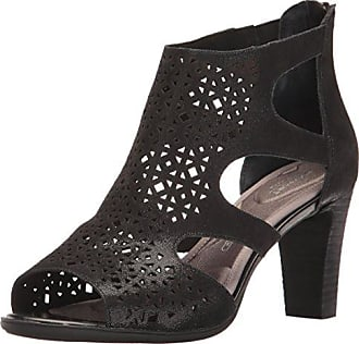 888c79284b Rockport Womens Total Motion 75MM Perf Bootie Heeled Sandal, Black Shimmer,  5 W US