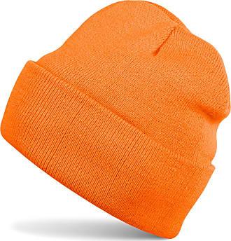 styleBREAKER Classic Beanie Knit hat, Warm fine Knit hat, Unisex 04024029, Color:Orange