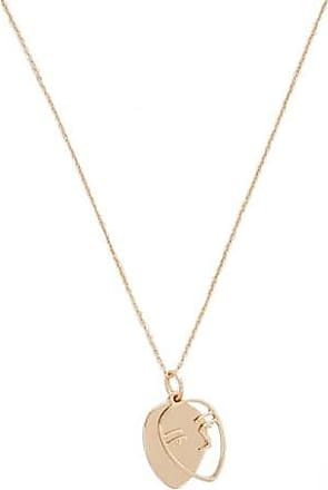 Forever 21 Forever 21 Face Pendant Necklace Gold