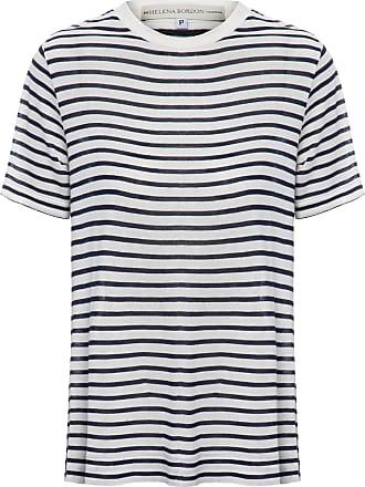 HELENA BORDON Camiseta Listrada - Azul