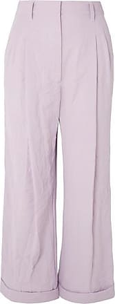 3.1 Phillip Lim Crinkled-cady Wide-leg Pants - Lilac