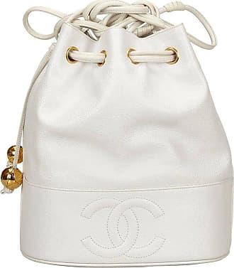 70f42646746e Chanel White Caviar Leather Drawstring Shoulder Bucket Bag