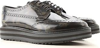 Prada Chaussure Brogue Pas cher en Soldes Outlet, Bleu uniforme, Cuir  Verni, 2017 19e5421a6a40