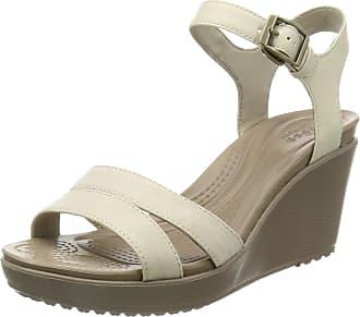 8b97907ca7193b Crocs Womens Leigh Ii Ankle Strap W Wedge Sandal