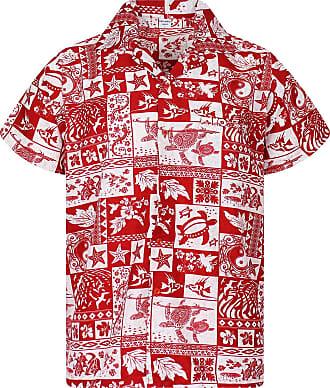 V.H.O. Funky Hawaiian Shirt, Puzzle, red, XXL