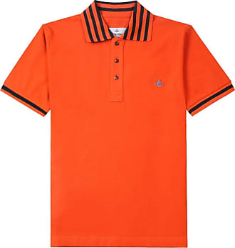 Vivienne Westwood Stripe Collar Orange Polo L Orange