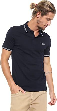 Lacoste Camisa Polo Lacoste Reta Logo Azul-marinho ee209d1ece