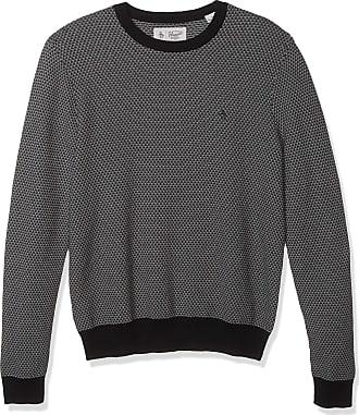 Original Penguin Mens Long Sleeve Patterned Sweater, Black, XL
