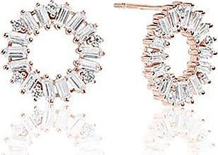 Sif Jakobs Jewellery Ohrringe Antella Circolo - 18K rosé vergoldet mit weißen Zirkonia