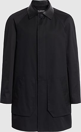 Neil Barrett Bi-colour 3-d Pocket Tech Cotton & Nylon Gabardine Car Coat
