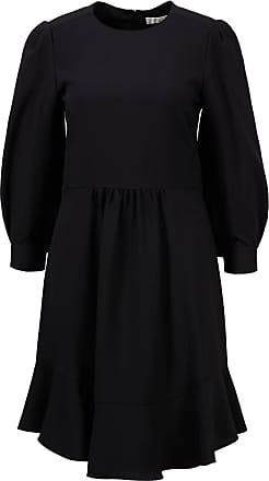 Chloé Kleid mit Volantdetails Schwarz