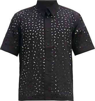 Ami Ami - Broderie-anglaise Cotton Shirt - Mens - Black