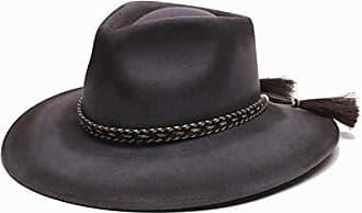 ále by Alessandra Womens Roxy Dene Distressed Felt Hat with Horse Tail Trim, Gray, Adjustable Head Size