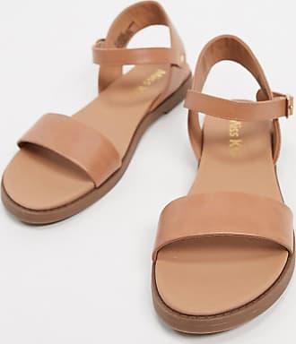 Kurt Geiger pebble flat sandals in beige