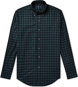Polo Ralph Lauren Slim-fit Button-down Collar Checked Cotton Shirt - Blue