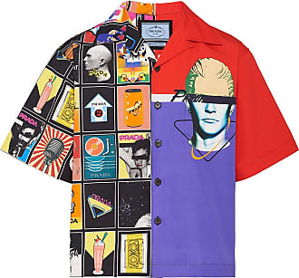 Prada Camisa Double Match - Roxo