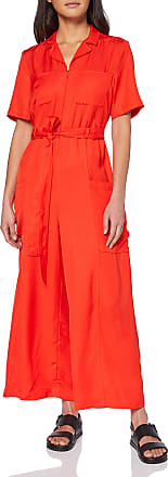 French Connection Womens ENZO Jumpsuit, Poppy Red, 12