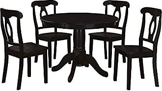 Dorel Home Products Aubrey 5 piece Traditional Height Pedestal Dining Set