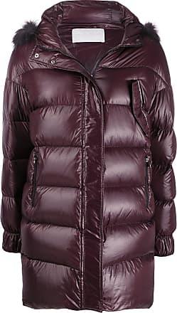Fabiana Filippi faux fur trimmed coat - Red