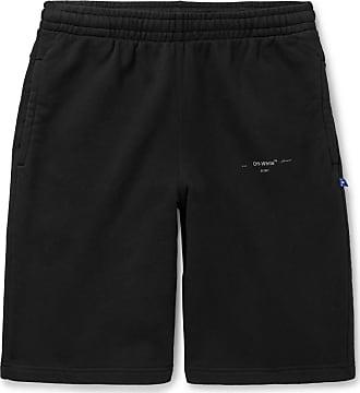 3aff0f89 Off-white Logo-print Loopback Cotton-jersey Drawstring Shorts - Black
