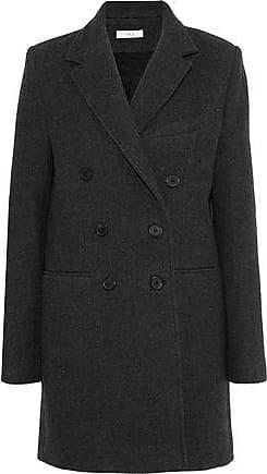 Iro Iro Woman Kascko Double-breasted Wool Twill Coat Dark Gray Size 40