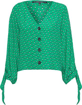 Shoulder Blusa Ampla Nó Manga - Verde