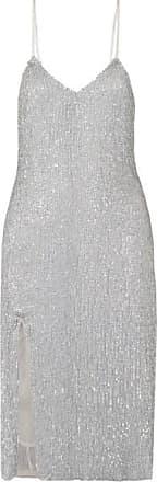 Retrofête Denisa Sequined Tulle Midi Dress - Silver