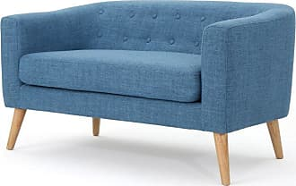 BEST SELLING HOME Brandon Fabric Mid-Century Modern Loveseat Muted Orange - 301294