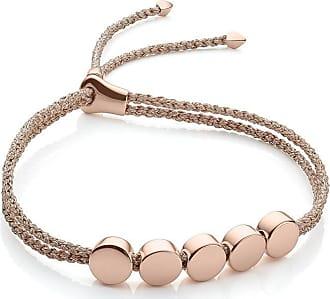 Monica Vinader Linear Bead Rose Gold Metallica bracelet