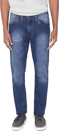 Hawaiian Dreams Calça Jeans HD Slim Estonada Azul