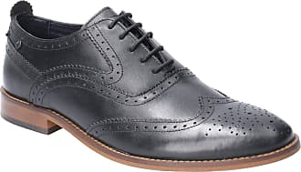 Base London Base Focus Waxy Mens Leather Material Formal Shoes Black - 11 UK
