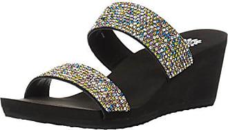 Yellow Box Womens Frisky Sandal, Purple, 7.5 M US