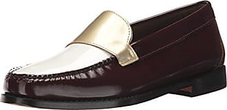 G.H. Bass & Co. Womens Wylie Loafer Flat, red, 8.5 M US