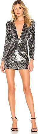 NBD Blane Mini Dress in Metallic Silver
