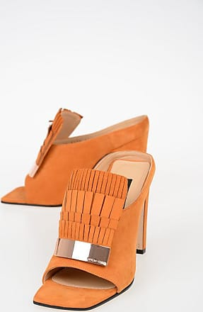 Sergio Rossi Suede Sandals with Fringes 11 cm size 36,5