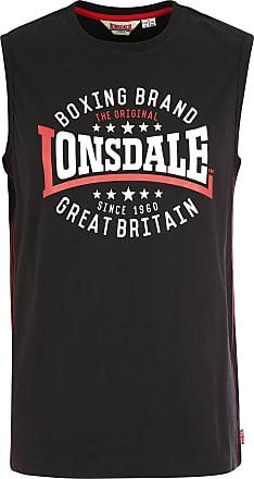 Lonsdale Mens St.Agnes Shirt, Black, XL