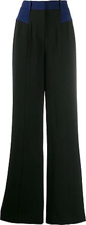 Diane Von Fürstenberg Calça pantalona de crepe - Preto