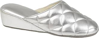 Dunlop Ladies Gold PU Quilted Mule Slipper - Sybil - Gold - size UK Ladies Size 8