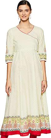 Aurelia Womens Cotton A-Line Kurta (19FEA10671-500509_ Green_ Small)