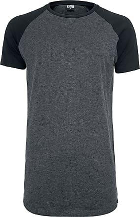 Urban Classics Shaped Raglan Long Tee - T-Shirt - charcoal, schwarz