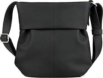 55235979506af zwei Mademoiselle M10 Shopper Umhängetasche 31 cm Nubuk-Black