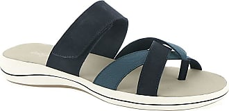 Easy Street Womens Open Toe Casual Strappy Sandals, Denim, Size 8.5 US / 6.5 UK US
