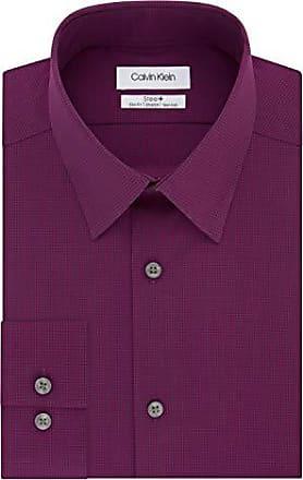 Tommy Hilfiger Mens Regular Fit Performance Stretch Solid Dress Shirt 18.5 36//37 Apricot